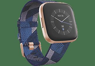 FITBIT Versa 2 (NFC) Special Edition Smartwatch Aluminium Gewebe, S, L, Navy/Pink