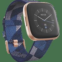 FITBIT  Versa 2 (NFC) Special Edition Smartwatch Aluminium, Gewebe, S, L, Navy/Pink