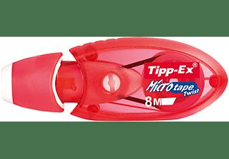 BIC Tipp-Ex Micro Tape Twist Korrekturroller, Blau oder Rot (Farbauswahl nicht möglich)