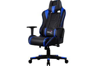 AEROCOOL AC220 AIR Gaming Stuhl, Schwarz/Blau