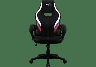 AEROCOOL Aero2 Alpha Gaming Stuhl, Schwarz/Blau/Weiß/Rot