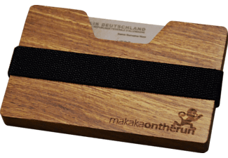 MAKAKAONTHERUN Edelholz Slim Wallet Rosenholz