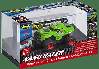 CARSON 1:60 Nano Racer Dino-Race 40 MHz 100%RTR R/C Monstertruck, Grün