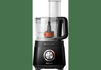 PHILIPS HR7510/10 Küchenmaschine Schwarz (Rührschüsselkapazität: 2,1 Liter, 800 Watt)
