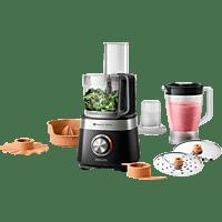 PHILIPS HR7530/10 Küchenmaschine Schwarz (Rührschüsselkapazität: 2,1 Liter, 850 Watt)