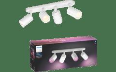 MediaMarkt-PHILIPS HUE Fugato opbouwspot - wit en gekleurd licht - 4-lichts - wit-aanbieding