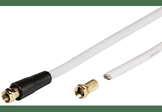 VIVANCO SAT-Anschlusskabel-Set 10m, 110 dB, weiß