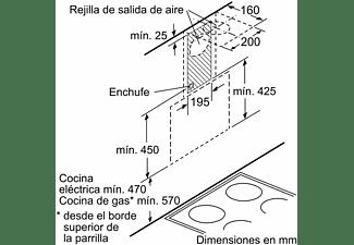 Campana - Balay 3BC565GN, Decorativa, 3 velocidades, 216 W, 593 m³/h, Integrable, C, LED, Táctil