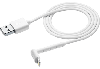 CELLULAR LINE Lade-/Datenkabel Stand Cable 120cm - Lightning, Weiß