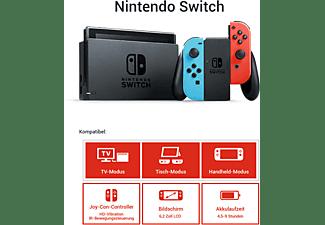 NINTENDO Switch Neon-Rot/Neon-Blau (neue Edition)