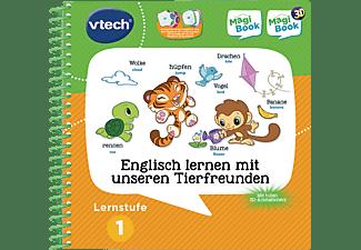 VTECH Lernstufe 1 - Englisch lernen mit unseren Tierfreunden 3D Lernbuch, Mehrfarbig