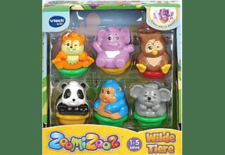 VTECH ZoomiZooz - 6er Set Wilde Tiere Tierfigur, Mehrfarbig
