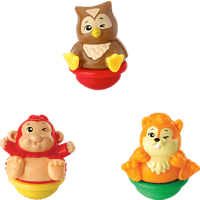 VTECH ZoomiZooz - 3er Set Waldtiere Tierfigur, Mehrfarbig