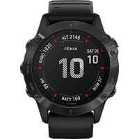 GARMIN Fenix 6 Pro Smartwatch Metall Silikon, 125-208 mm, Schwarz