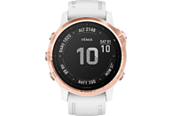 GARMIN Fenix 6s Pro Smartwatch Metall Silikon, 108-182 mm, Weißgold/Rosegold