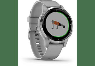 GARMIN Vivoactive 4S  Smartwatch Polymer Silikon, 110-175 mm, Grau/Silber