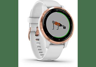GARMIN Vivoactive 4S  Smartwatch Polymer Silikon, 110-175 mm, Weiß/Rosegold