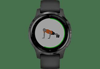 GARMIN Vivoactive 4S  Smartwatch Polymer Silikon, 110-175 mm, Schwarz/Schiefergrau