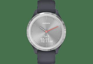 GARMIN Vivomove 3S Sport Smartwatch Polymer Silikon, k.A., Granitblau/Silber