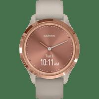 GARMIN Vivomove 3S Sport Smartwatch Polymer Silikon, k.A., Beige/Rosegold