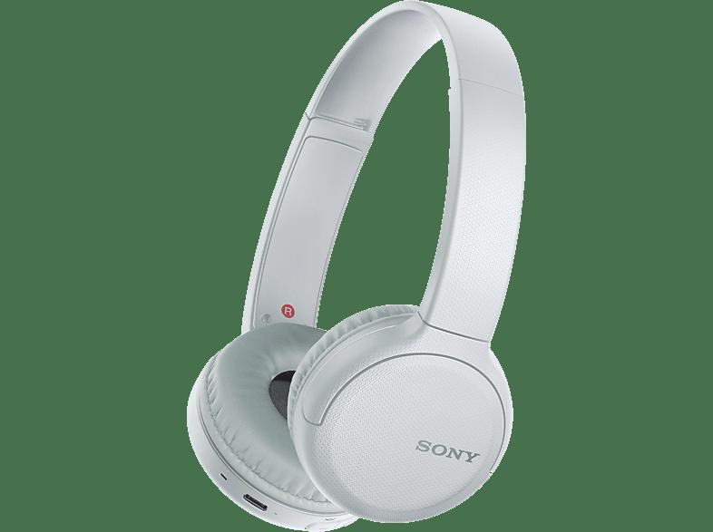 SONY WH-CH510, On-ear Kopfhörer Bluetooth Weiß