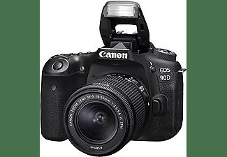 CANON Spiegelreflexkamera EOS 90D mit Objektiv EF-S 18-55mm F3.5-5.6 IS STM, schwarz (3616C010)