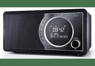Radio digital - Sharp DR-450, 3 W, DAB/DAB+/FM, Bluetooth, Alarma, Función Sleep, Negro