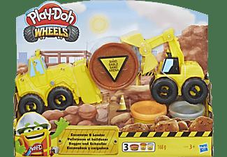 PLAY-DOH Play-Doh Bagger und Schaufler Spielset, Mehrfarbig