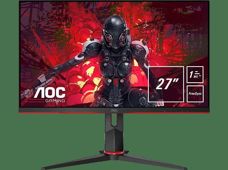 AOC 27G2U5 BK 27 Zoll Full-HD Gaming Monitor mit 1 ms. 75 Hz, FreeSync und IPS-Panel 1 ms Reaktionszeit, Hz