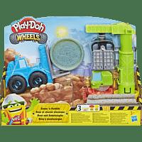 PLAY-DOH Play-Doh Kran und Gabelstapler Spielset, Mehrfarbig