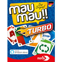 NORIS MauMau Turbo (spielbar mit Amazon Alexa) Kartenspiel, Mehrfarbig