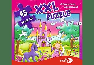 NORIS XXL Puzzle Prinzessin im Zauberwald Puzzle Mehrfarbig