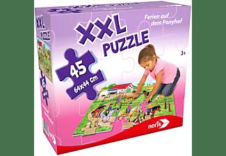NORIS XXL Puzzle Ferien auf dem Ponyhof Puzzle Mehrfarbig