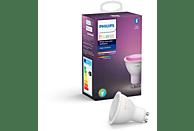 Bombilla Bluetooth - Philips Hue LED GU10, Luz blanca y color, Domótica