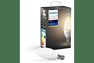 Bombilla Bluetooth - Philips Hue vela LED, Luz blanca cálida, Domótica