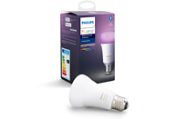Bombilla Bluetooth - Philips Hue LED E27, Luz blanca y color, Domótica