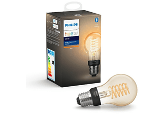 Bombilla Bluetooth - Philips Hue, Filamento estándar LED E27, Luz blanca cálida, Domótica