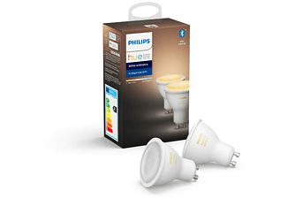 Bombillas - Philips, Pack de 2 GU10, A+, 5W,
