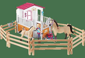 SCHLEICH Horse Club Pferdebox mit Arabern und Pferdepflegerin Spielset Mehrfarbig