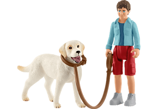 SCHLEICH Spaziergang mit Labrador Retriever Spielfiguren Mehrfarbig