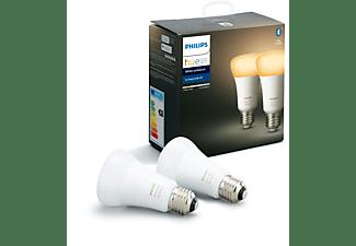 PHILIPS Hue White Amb. E27 Doppelpack Bluetooth LED Lampen kühlweiß bis warmweiß