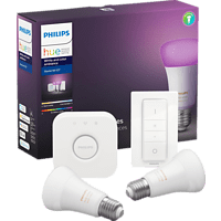 PHILIPS Hue White & Col. Amb. E27 2er Bluetooth Starter Kit Mehrfarbig