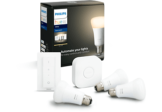 PHILIPS Hue White E27 3-er inkl. Dimmschalter Bluetooth Starter Kit Warmweiß