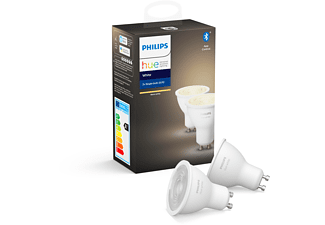 PHILIPS Hue White GU10 Doppelpack Bluetooth LED Lampen Warmweiß