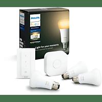 PHILIPS Hue White Amb. E27 3-er Bluetooth Starter Kit, Weiß