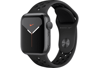 APPLE Watch Series 5 GPS Nike 40mm Aluminiumboett i Rymdgrå - Sportband Antracit/Svart