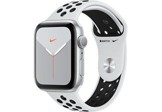 APPLE Watch Series 5 GPS Nike 44mm Aluminiumboett i Silver - Sportband Platinum/Svart