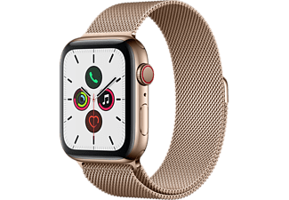 APPLE Watch Series 5 GPS+Cellular eSIM 44mm Rostfri Stålboett i Guldfinish - Milanesisk Loop i Guldfinish