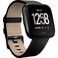 FITBIT Wechselarmband Versa Accessory Band, Leather, Black, Small