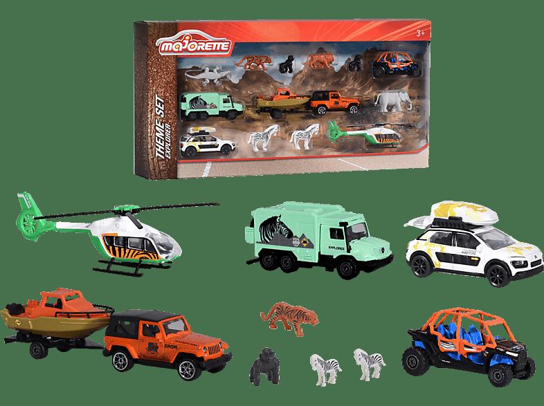 MAJORETTE Big Explorer Theme Set Spielset, Mehrfarbig